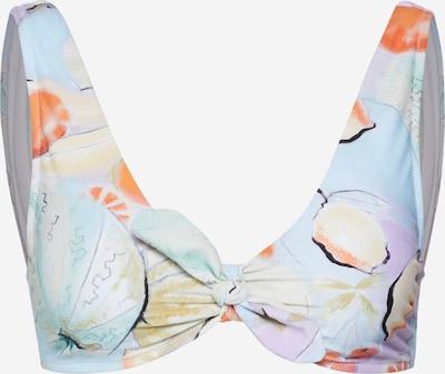 EDITED Hauts de bikini 'Ginsey' en bleu clair / orange clair, Vue avec produit