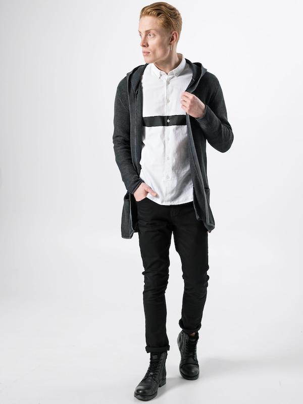 Indicode Maille Jeans Vestes Noir En 'graham' 7gbY6fy