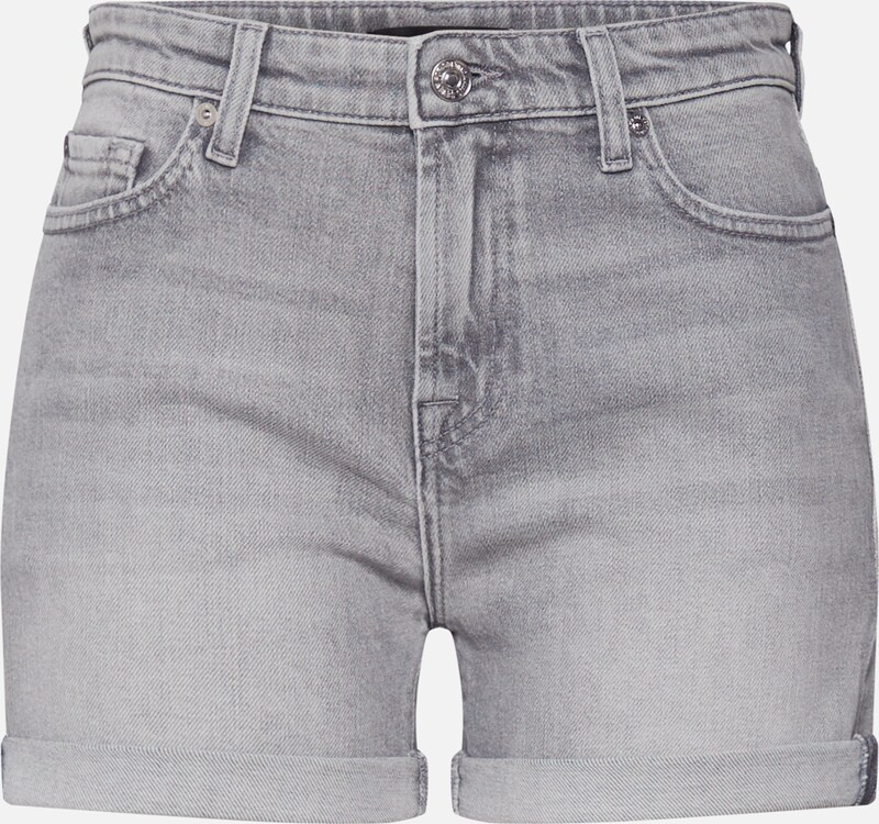 7 for all mankind Shorts 'BOY SHORTS' in grey denim, Produktansicht