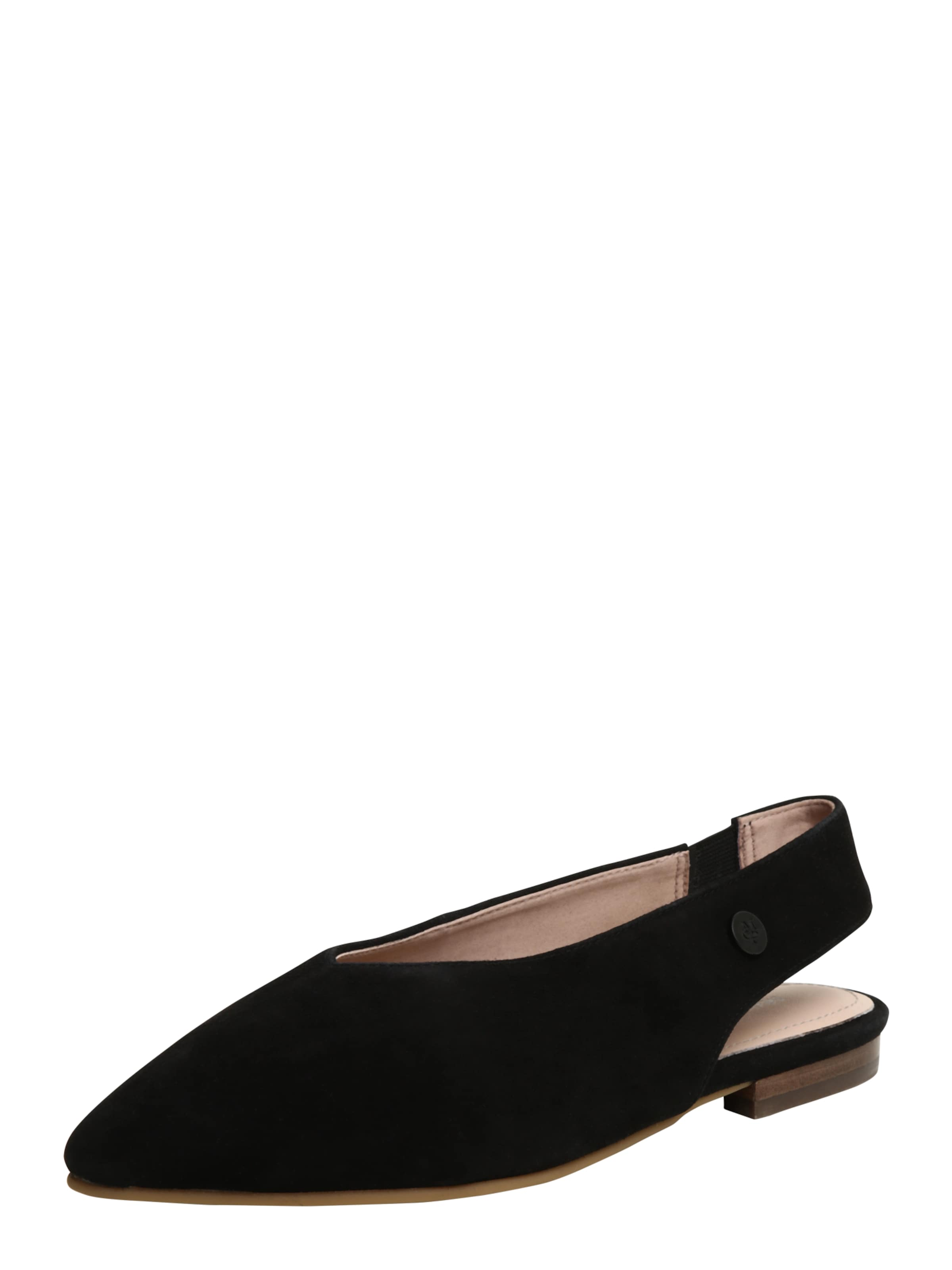 Marc O'Polo | Slingback getragene Ballerina in Veloursleder Schuhe Gut getragene Slingback Schuhe ff918d