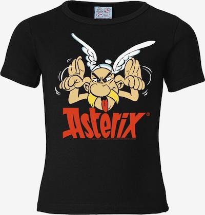 LOGOSHIRT T-Shirt in gold / rot / schwarz / weiß, Produktansicht