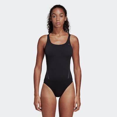 ADIDAS PERFORMANCE Badeanzug 'Pro V 3-Streifen' in schwarz, Modelansicht