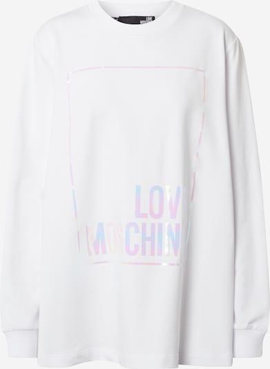 Love Moschino Majica 'Felpa Girocollo' | lila / roza / bela barva: Frontalni pogled