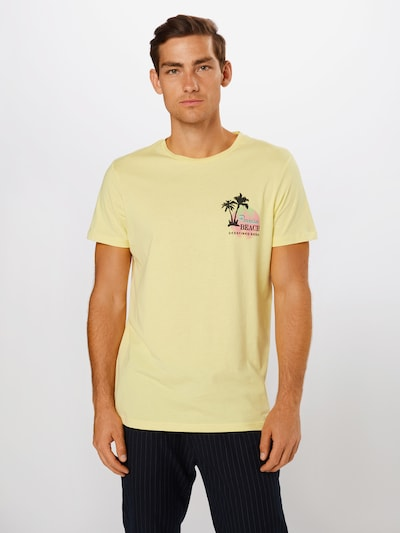 Redefined Rebel T-Shirt 'Conner' en citron vert: Vue de face