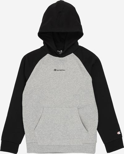 Champion Authentic Athletic Apparel Sweatshirt in graumeliert / schwarz: Frontalansicht