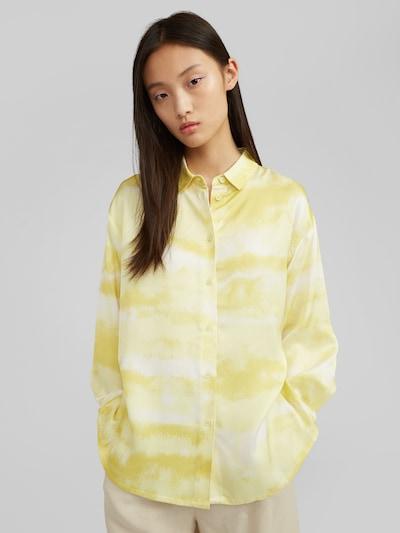 EDITED Blouse 'Yve' in de kleur Geel, Modelweergave