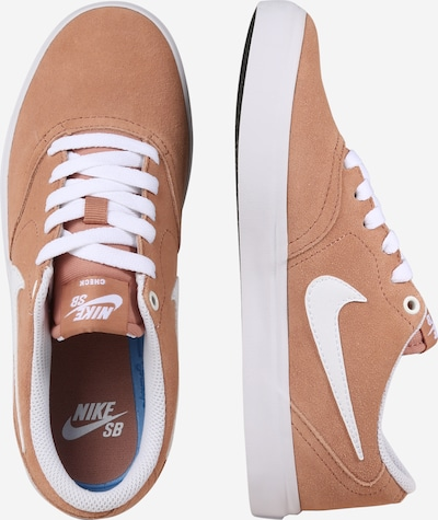 Nike SB Baskets basses 'Check Solar'' en orange / blanc: Vue de profil