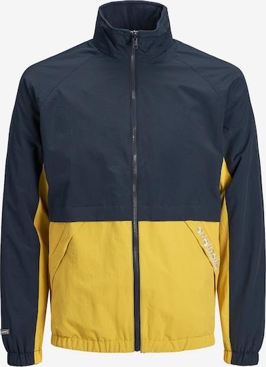 JACK & JONES Jacke in nachtblau / gelb, Produktansicht