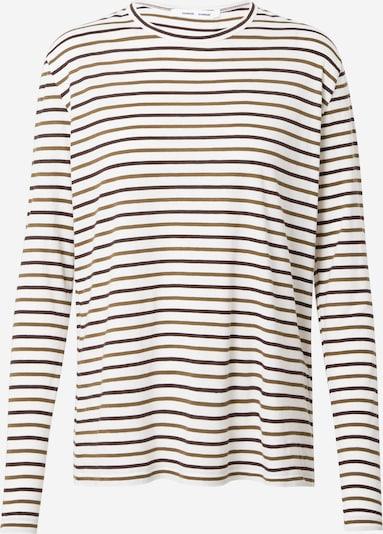 Marškinėliai 'Nobil' iš Samsoe Samsoe , spalva - tamsiai ruda / tamsiai žalia / balta, Prekių apžvalga