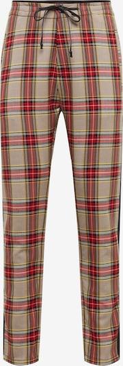 Pantaloni 'JEGER_TAPE' DRYKORN pe bej / roșu / negru, Vizualizare produs