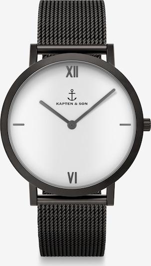 Kapten & Son Zegarek analogowy 'Pure Lux' w kolorze czarny / białym, Podgląd produktu
