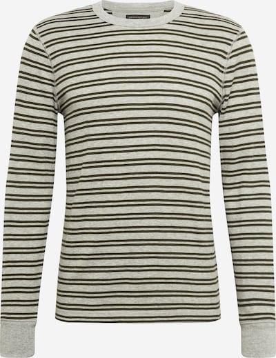 Banana Republic Shirt 'TEMP LS WAFFLE' in de kleur Grijs / Zwart, Productweergave