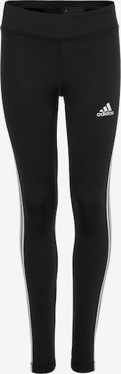 ADIDAS PERFORMANCE Pantalon de sport 'YG TR EQ 3S L T' en noir / blanc, Vue avec produit
