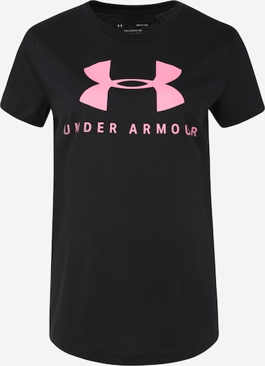 UNDER ARMOUR Functioneel shirt in de kleur Pink / Zwart, Productweergave