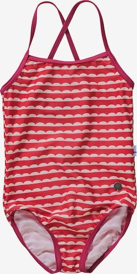 FINKID Badeanzug 'Uimapuku' in nude / rot, Produktansicht