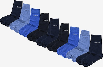 s.Oliver Socken in blau / kobaltblau / nachtblau / royalblau, Produktansicht