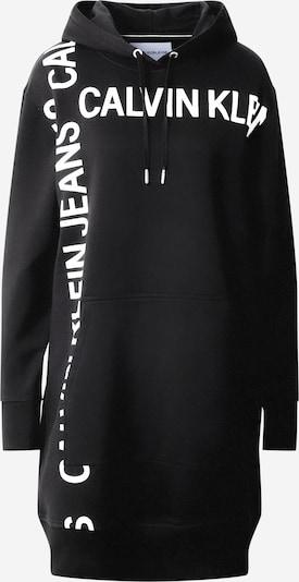 Calvin Klein Jeans Sweatshirtkleid in schwarz / weiß, Produktansicht