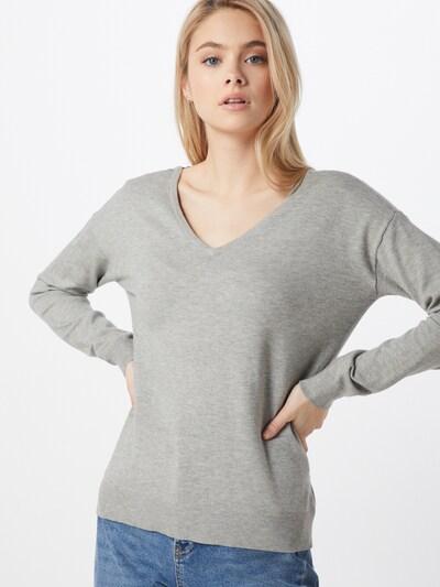 VERO MODA Pullover in grau / schwarz, Modelansicht