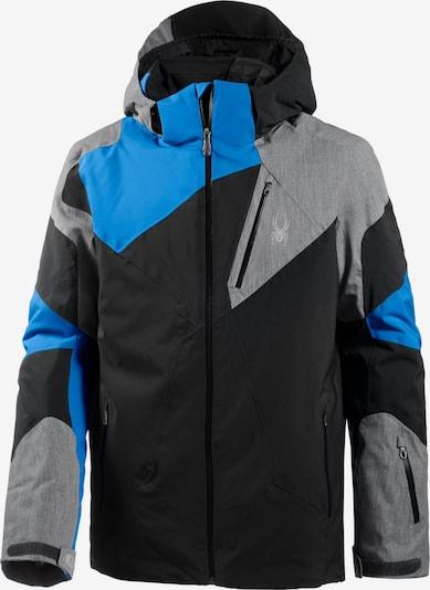 SPYDER Skijacke 'Leader' in blau / grau / schwarz, Produktansicht