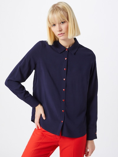 ABOUT YOU Bluse 'Hilka' in navy, Modelansicht