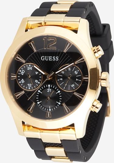 Analoginis (įprastinio dizaino) laikrodis 'WONDERLUST' iš GUESS , spalva - Auksas / juoda, Prekių apžvalga