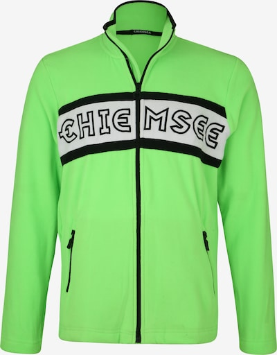 Bluză cu fermoar sport CHIEMSEE pe verde, Vizualizare produs