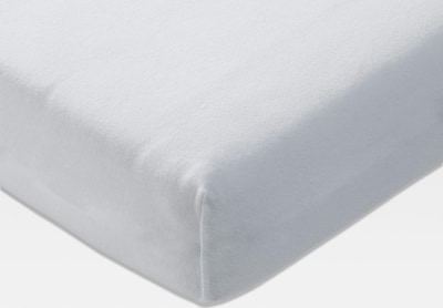 JOOP! Spannbettlaken 'Mako Jersey' in weiß, Produktansicht