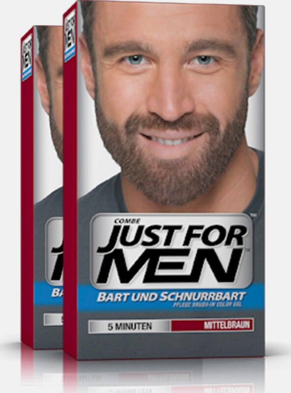 Just For Men 'Pflege-Brush-In-Color-Gel', Haartönung für Bart und Schnurrbart