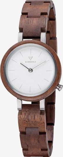 Kerbholz Uhr 'Matilda Walnut' in braun, Produktansicht