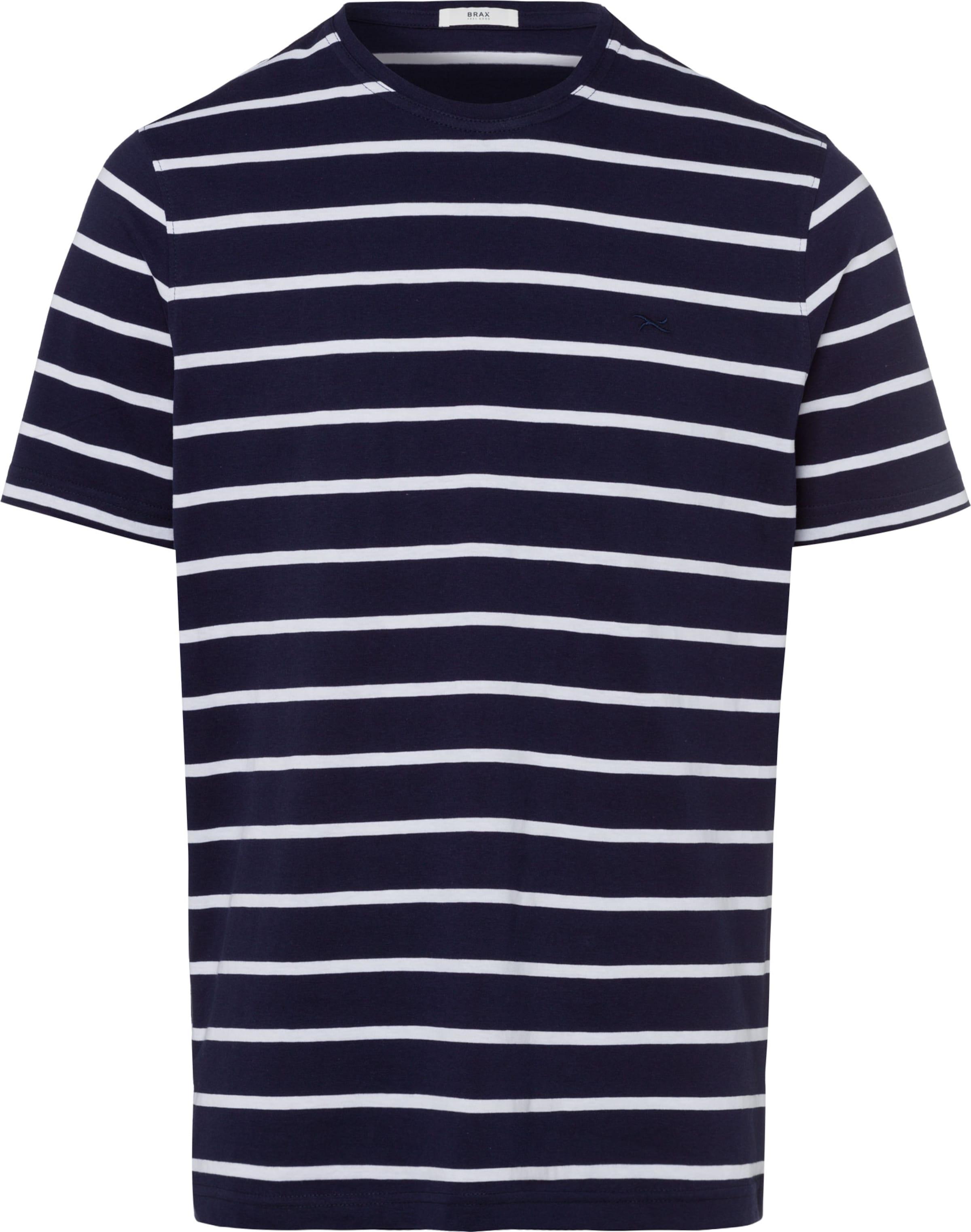 Brax T shirt 'troy' NachtblauWeiß In f6gYvb7y