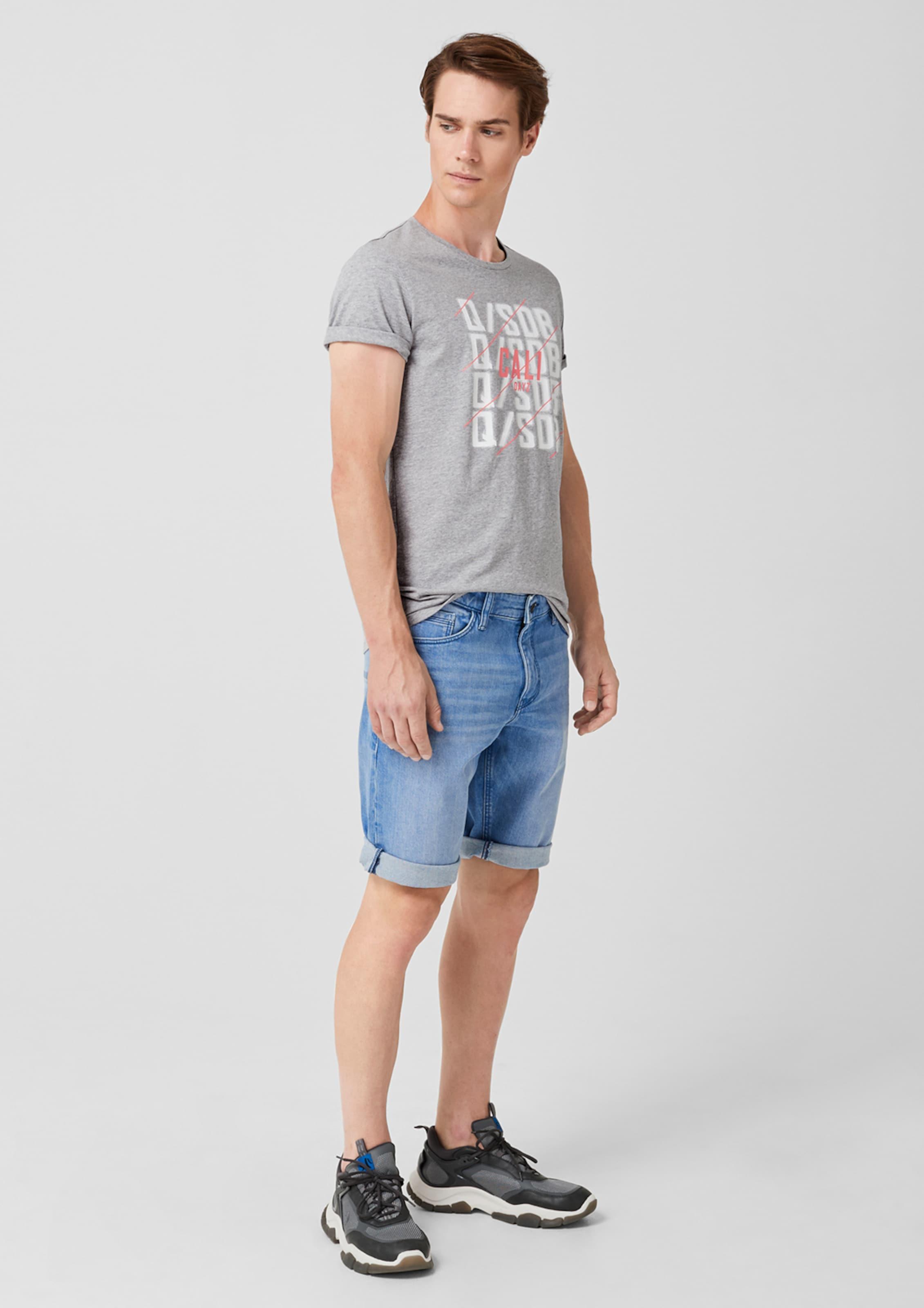 s Q shirt GrauKoralle T Weiß Designed In By bmgY76vIyf
