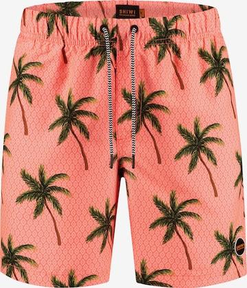 Pantaloncini da bagno 'palms' di Shiwi in arancione