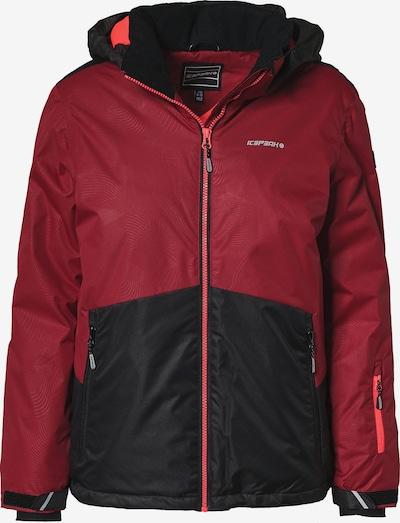 ICEPEAK Skijacke 'HALE' in blutrot / schwarz, Produktansicht