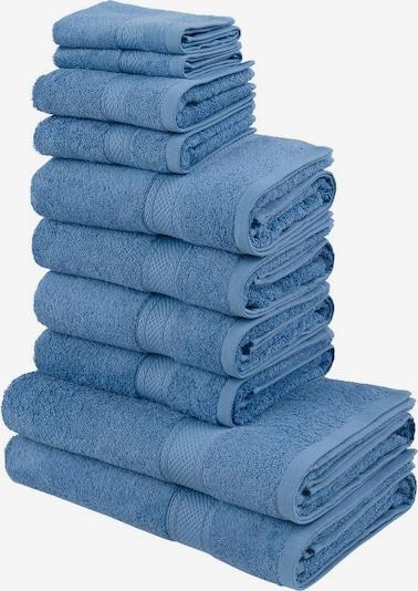 MY HOME Handtuch Set in blau, Produktansicht