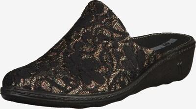 ROMIKA Pantoletten in gold / schwarz, Produktansicht