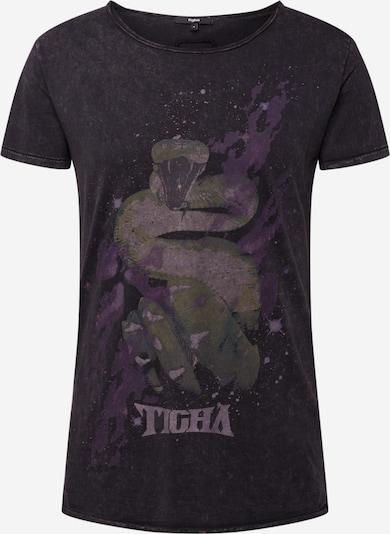 tigha T-Shirt 'Galaxy Snake Wren' en noir: Vue de face