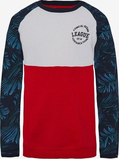 WE Fashion Sweatshirt in blau / rot / weiß, Produktansicht