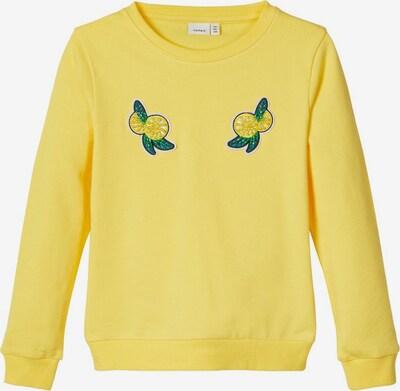 NAME IT Sweat-shirt en jaune, Vue avec produit