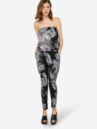 Urban Classics Jumpsuit in schwarz / weiß, Modelansicht