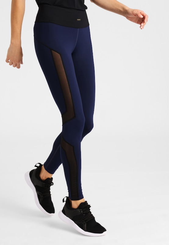 Daquïni Leggings Fluxus Leggings in blau, Modelansicht