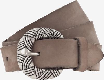 VANZETTI Gürtel 30mm in taupe / silber, Produktansicht