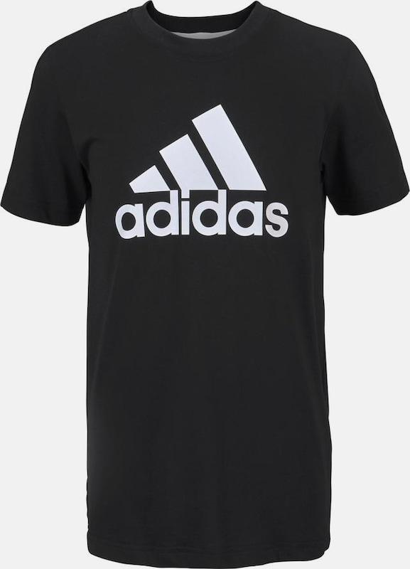 ADIDAS PERFORMANCE T Shirt 'Id Lin' in graumeliert schwarz
