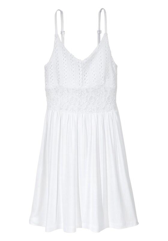 ffbe9d9981b ARIZONA Trägerkleid mit Spitzeneinsatz für Mädchen in weiß