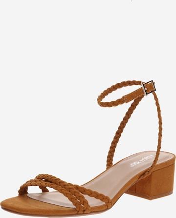 ABOUT YOU - Sandalias con hebilla 'Madita' en marrón