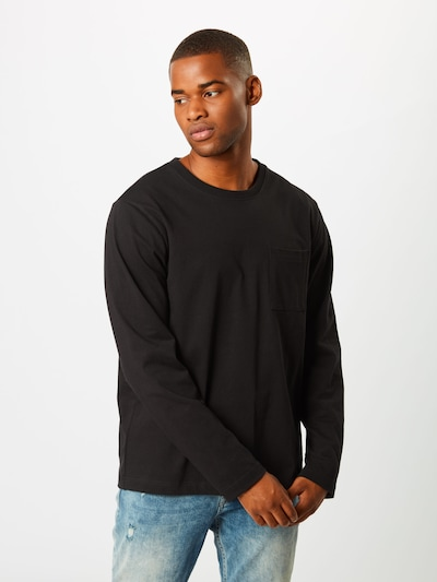 Nudie Jeans Co Majica 'Rudi Pocket Tee' | črna barva, Prikaz modela