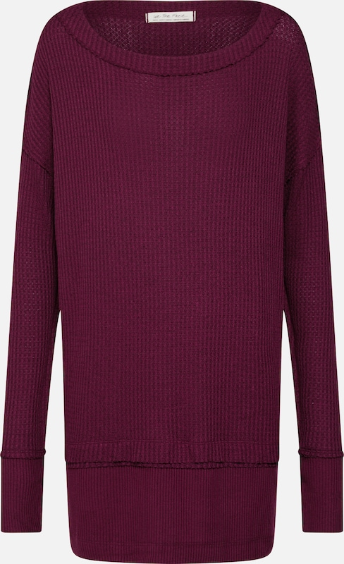 Free People Pullover 'NORTH SHORE THERMAL' in weinrot: Frontalansicht