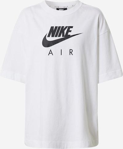 Nike Sportswear Majica 'W NSW AIR TOP SS BF' | črna / bela barva, Prikaz izdelka