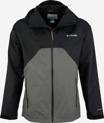 COLUMBIA Sportjas 'Rain Scape Jacket' in de kleur Donkergrijs / Zwart, Productweergave