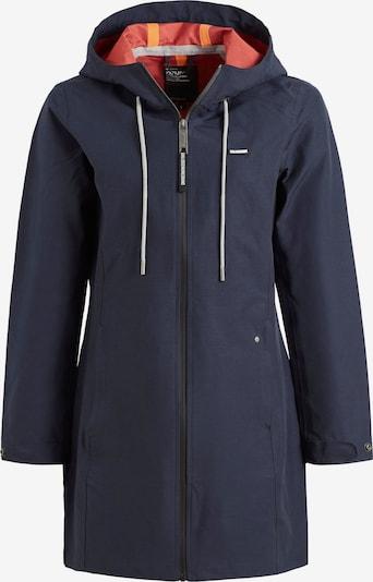khujo Tussenjas 'LINEA' in de kleur Donkerblauw / Geel / Oranjerood / Wit, Productweergave