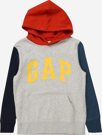 GAP Sweater majica u plava / siva / crvena, Pregled proizvoda
